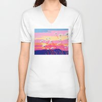 daisies V-neck T-shirts featuring Daisies by Suzanne Gibson