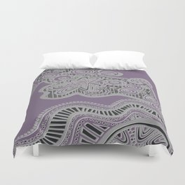 Just a Squiggle Here and There - Purple Duvet Cover
