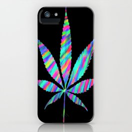 Weed : High Time Colorful Psychedelic iPhone Case