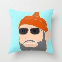 life aquatic Throw Pillows featuring life aquatic  by Chad spann