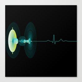 Dragon Stem Goblet - heartbeat Canvas Print