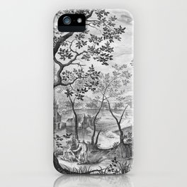 Landscape with Judah and Tamar iPhone Case