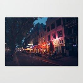 Nightlife in Amsterdam Canvas Print