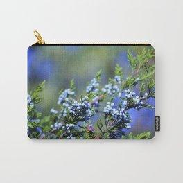Light Blue Juniper Berries Carry-All Pouch