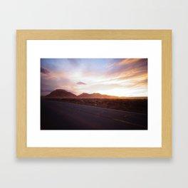 Sunset - Monument Valley Framed Art Print