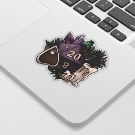 Witchy D20 Tabletop RPG Gaming Dice Sticker