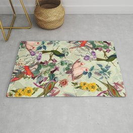 Floral and Birds VIII Rug