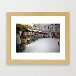 Market 6 Framed Art Print