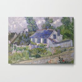 Houses in Auvers Metal Print