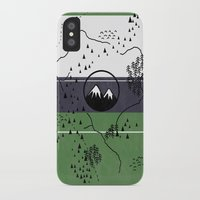 middle earth iPhone & iPod Cases featuring Middle Earth by Cécile Pellerin