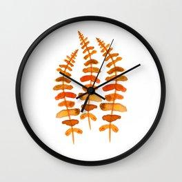 Hello autumn. Watercolor autumn leaves Wall Clock