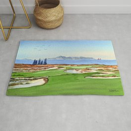 Tara Iti Golf Course New Zealand 17th Hole Rug