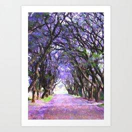 Path between the Grove Art Print