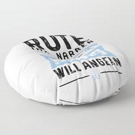 Reichet Mir Die Rute Der König Will Angeln Floor Pillow