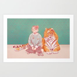 I'm a cat Lady Art Print