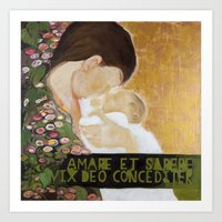 A Mothers love (Even God finds it hard to love and be wise (at the same time)) Art Print
