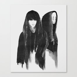kaonashi (no face) Canvas Print