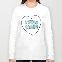 teen wolf Long Sleeve T-shirts featuring TEEN WOLF by Sara Eshak