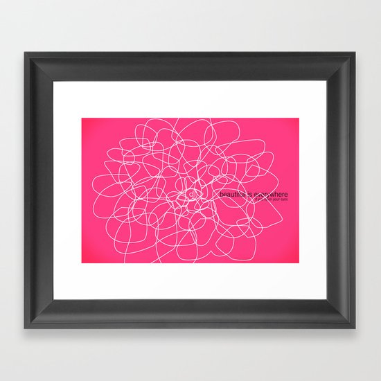 see beauty Framed Art Print
