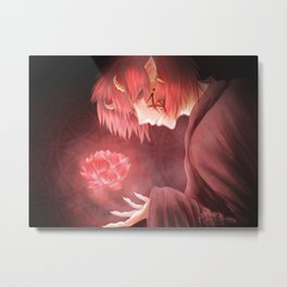 Red Lotus. Metal Print