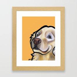 George the golden retriever (orange) Framed Art Print