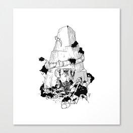 Flores de plastico Canvas Print