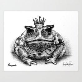 GREGORIO Frog Prince Print Art Print