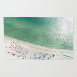 Helicopter View of Miami Beach Rug