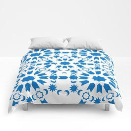 Blue Arabesque Comforters