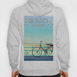 Brighton, East Sussex vintage travel poster. Hoody