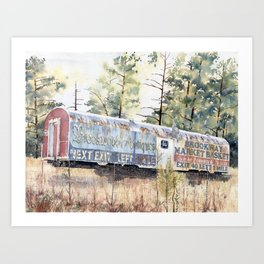 Brookhaven Train Sign Art Print