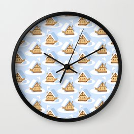Cute alpine chalet Wall Clock