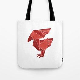"Collection ""Origami"" impression ""Phoenix"" Tote Bag"
