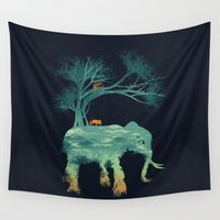 tree of life Wall Tapestries featuring The Tree of Life by dan elijah g. fajardo