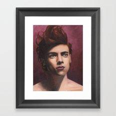 Painted Harry Framed Art Print