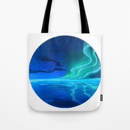 Green Aurora Tote Bag