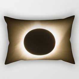 Totality - 2017 Total Solar Eclipse with Golden Corona Rectangular Pillow
