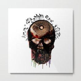 Skull and Dome Metal Print