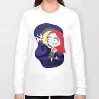 nightmare before christmas Long Sleeve T-shirts featuring Sally from Nightmare before Christmas  by Piccolinart
