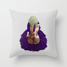 Ultra Blue Cellist Throw Pillow