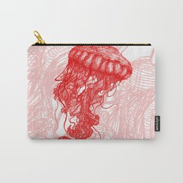 Jellyfish (Red on White Variant) Carry-All Pouch