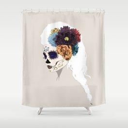 Versailles Skull Shower Curtain