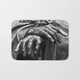 Hands of Wisdom - Black & White Bath Mat