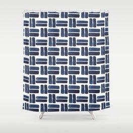 'bold brush strokes' - pattern Shower Curtain