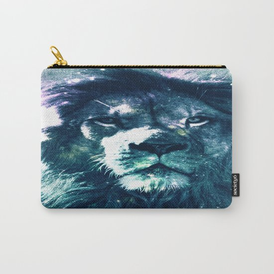 Lion Leo Teal Carry-All Pouch