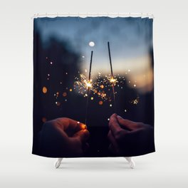 Sparkler Shower Curtain