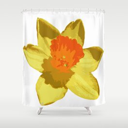Spring Daffodil Vector Isolated Shower Curtain