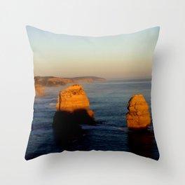 Glowing Rock Stacks Throw Pillow