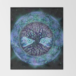 Earth Circle of Light Throw Blanket