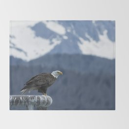 Bald Eagle of Resurrection Bay, No. 1 Throw Blanket